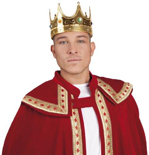 Boland 01317 - Krone für Erwachsene, König, Königin, Diadem, Kopfbedeckung, Mittelalter, Accessoire, Motto Party, Karneval
