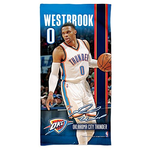 WinCraft NBA Russell Westbrook - Oklahoma City Thunder Player Beach Towel 75cm x 150cm