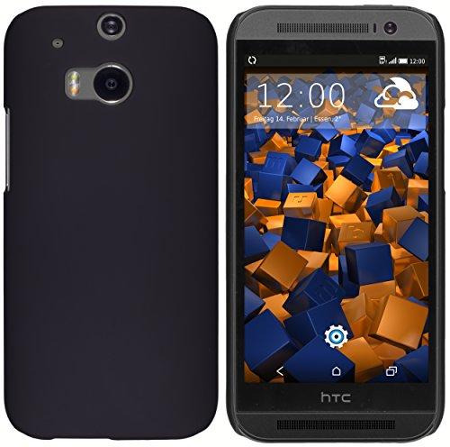 mumbi Hülle kompatibel mit HTC One M8 / M8s Handy Hard Case Handyhülle, schwarz