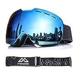 MOSODO Stylish Ski Goggles 2019 with UV400 Protection, Anti-fog, Full REVO Mirror Lens