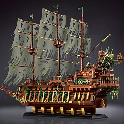 XJJY Juego de Edificios modulares para el Modelo de holandés Volador, Nave Fantasma y Modelo de Barco Pirata, 3653pcs Compatible con Ladrillos Lego