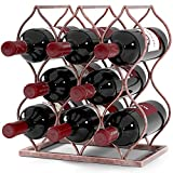Will's Tabletop Wine rack - Imperial Trellis (8 Bottle, Rose Gold) – Freestanding countertop wine rack and wine bottle storage, perfect wine gifts and accessories for wine lovers, no assembly required