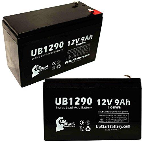 2x Pack–Ersatz APC Smart-UPS 3000SUA3000RMI2U–Ersatz ub1290Universal versiegelte Blei-Säure-Batterie Batterie (12V, 9Ah, 9000mAh, F1Terminal, AGM, SLA)–inkl. 4F1zu F2Terminal Adapter