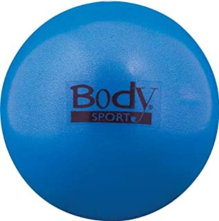 Body Sport FusionBall 7.5-10 Mini Fitness Ball - Use for Pilates. Inflates with Included Straw. Ideal for isometrics,  Core Work. No Pump Necessary!