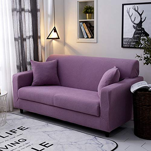 Upgrade Stretch Sofabezug L Form Sofa Schonbezug, Dicker Universal Corn Fleece All-Inclusive Elastischer Sofabezug,Langlebiger Möbelschutz für Wohnzimmer(Blau)(Color:T,Size:1-Seat(90-140cm))