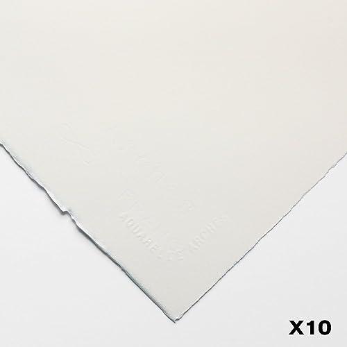 Arches Aquarelle 140lb (300 g m2) chaud Appuyez sur 22 po x 30 po (56X76cm) x 10