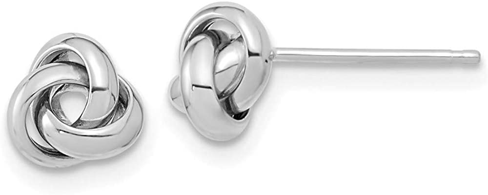 14k White Gold specialty shop Earrings Knot Post Online limited product
