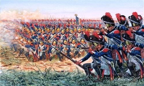 Italeri Napoleonic War French Grenadiers 50 1 72 6072S