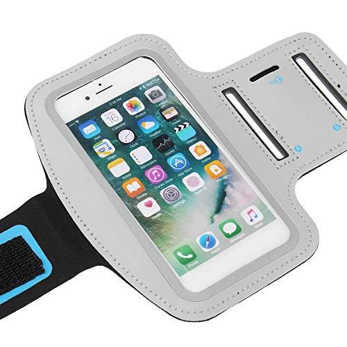 Yanshan Taihang Aplicable para iPhone7 Plus Sports Running Gym Brazo para Pantalla táctil con Funda Protectora (Color : Silver)