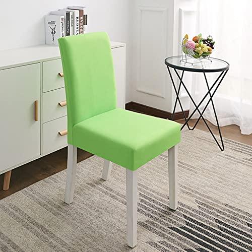 UKKO Chair Cover 2 Stück Farbe Stretch Spandex Esszimmer Stuhlabdeckungen Slipcover Wohnzimmer Home Party Hochzeit Dekoration Stuhlabdeckung-Vegetable Green,Universal Sizes