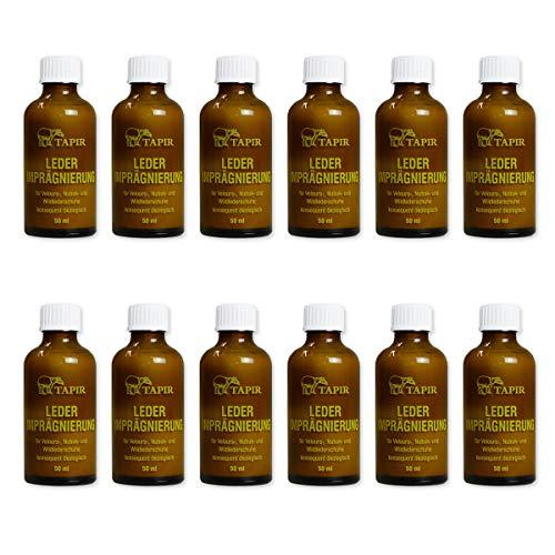 TAPIR - Lederimprägnierung Nachfüllflasche - 50 ml - 12 Pack