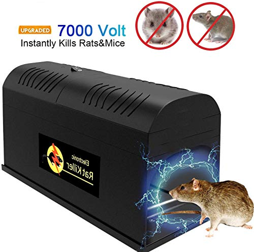 QYWSJ Professionelle Mausefalle, elektronischer Rattenfallen-Mörder, ungiftige elektrische Hochspannungs Mäusemörder-Rattenfalle, Befreien Sie Sich von Mäusen, Ratten und Nagetieren