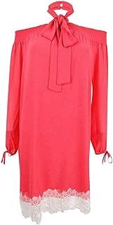 Michael Michael Kors Women's Off-The-Shoulder Lace-Hem Dress, Sangria
