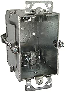 Hubbell-Raco 517 2-1/2-Inch Deep Gangable Old Work Clips NMSC Clamps, 3-Inch by 2-Inch Switch Box