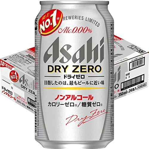 [Case of 24] [Product of Japan] ASAHI DRY ZERO, Premium Japanese Beer Beverage, 0.00% Non-Alcohol, Zero Calories And Gluten Free, Japan No. 1 Best Selling NA Beer - 11.83 Fl Oz