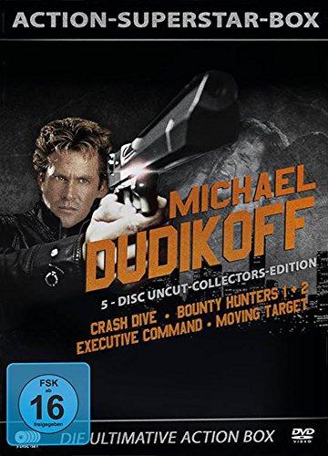 Michael Dudikoff - Action-Superstar-Box ( Crash Dive - Bounty Hunters 1+2 - Executive Command - Moving Target ) [5 DVDs]