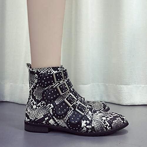 HELUMTXM Femmes Bottines Femme Femme Décontracté Chaussures Femme Plat Mode Bout Pointu Boucle Sangle Plus la Taille 35-43 Chaussures Basses Chaussures Pompes  marques de mode