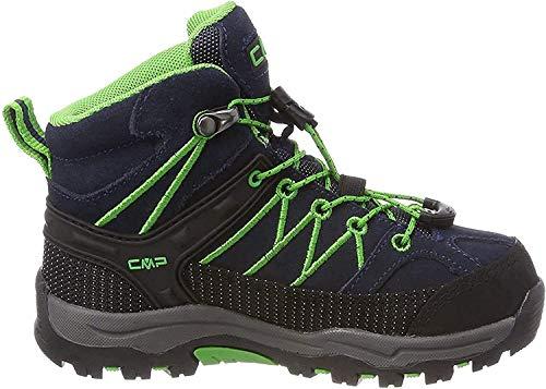 CMP Unisex dziecięce buty trekkingowe Rigel Mid Shoe Wp, niebieski - Niebieski B Blue Gekon - 28 EU