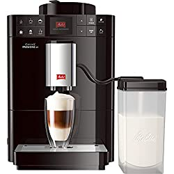Melitta Caffeo Passione OT F531-102, Kaffeevollautomat mit Milchbehälter, One Touch Funktion, Schwarz