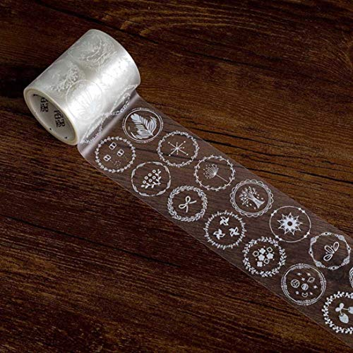 Noah duurzame retro transparante kant decoratieve plakband maskeren DIY Scrapbooking Sticker 3