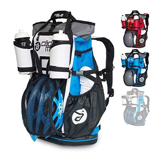 CADOMOTUS Versatile Vielseitige Sportrucksack mit Dry Bag - Wasserdichter Rucksack für Sport 40+15L - Fahrrad Rucksack - Triathlon Sporttasche - MTB Rucksack - Weiß