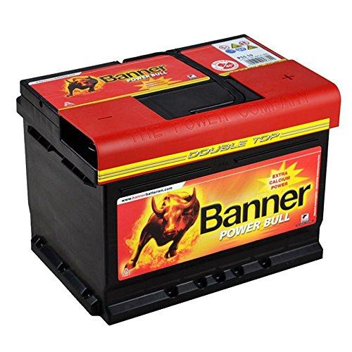 Banner Autobatterie 60AH 12V Power Bull P6009 ersetzt 54Ah 55Ah 56Ah Starter Batterie