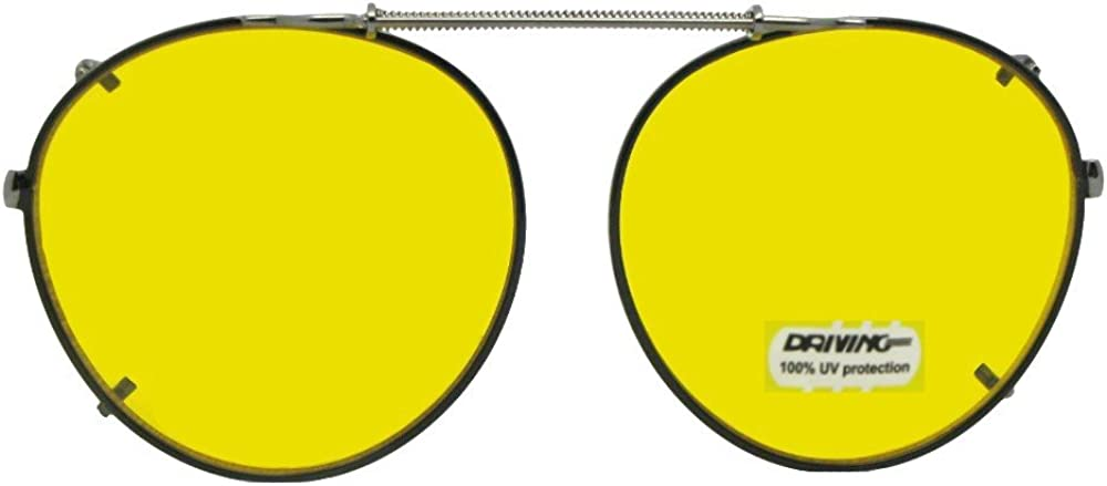 Semi Round Non Polarized Yellow Price reduction Clip New arrival Sunglasses on