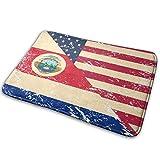 Love girl Bandera de EE. UU. Y Costa Rica Alfombra de Entrada Retro Baño Piso Hogar Alfombrilla Antideslizante Oficinas Alfombra Cocina Baño Decoración de alfombras 80x50 cm