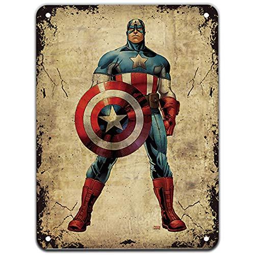 Vintage Superhero Metal Cartel de Chapa Placa Chic Bar Decoración para el hogar Cartel de Metal 1