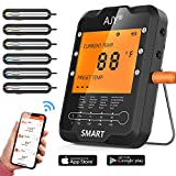 BBQ Meat Grill Thermometer,AJY Smart Bluetooth Wireless Remote Digital Cooking Food Meat Thermometer...
