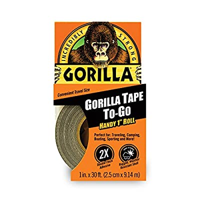 "Gorilla Tape, Mini Duct Tape to-Go, 1"" x 10 yd Travel Size"