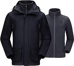 CAMEL CROWN Men's 3-in-1 Ski Jacket Warm Winter Coat Mountain Snow Jacket for Rain Outdoor Hiking