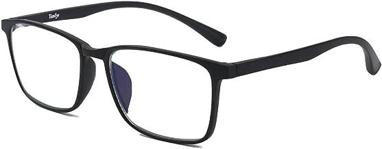 Tanlys Blue Light Blocking Glasses for Computer Eye Strain Anti UV Headache Transparent Lens TR90 Bluelight Blocker Gaming Glasses for Women Men