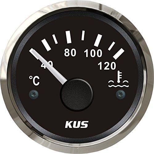 KUS1005: KUS Temperaturanzeige Kühlwasser, schwarzes Display mit Edelstahl-Lünette