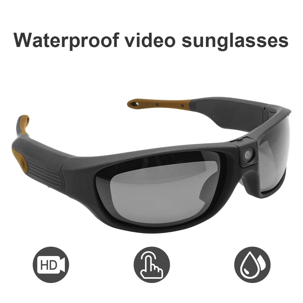 Sports Sunglasses Video Recorder Waterproof Ip55 1080p Hd Camera Glasses Dvr Recording Hands Free 90 Minutes Ultra Long Battery Life Buy Online In Aruba At Desertcart
