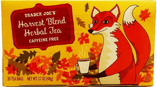 Trader Joes HARVEST BLEND HERBAL TEA, Caffeine Free, 20 Bags, 1.7 Oz Box