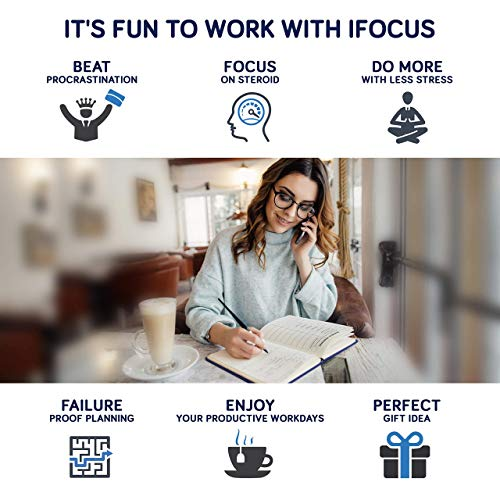 Product Image 4: Business Planner Undated for Entrepreneurs! Focus Project Notebook for Productivity! Best Daily Weekly Self Organizer Planner / Win the Day! Beat Procrastination! Ifocus – A5 work planner