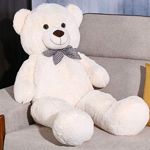 FSN Oso de Peluche Gigante Grande Teddy, 100cm Osito Suave y Cariñoso para Niños y Adultos Blanco