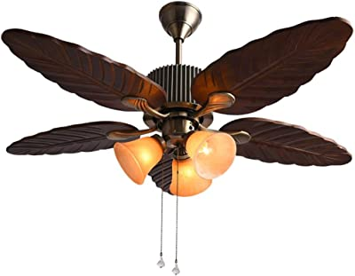 Leds-c4 phuket - Luminaria colgante con ventilador phuket marron ...