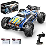 1:10 Realistic Scale High Speed RC Car: This RC car equipped with all-terrain tires and upgraded powerful motor, achieve up to 48 Km/h high speed, gives you a greater competitiveness in drag racing. Full scale of speed control (10 Speed ratios), offe...