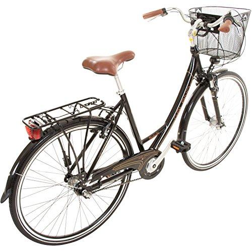 Galano 28 Zoll Prelude Citybike Stadt Fahrrad Licht 3 Gang Nexus, Farbe:Schwarz - 3