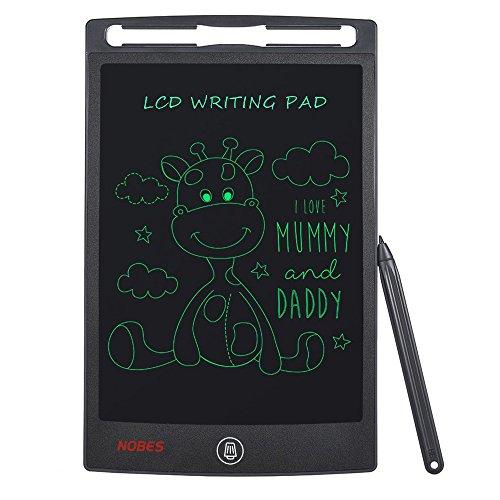 NOBES Tableta de Escritura LCD 8.5 Inch, LCD Tablero de Dibujo Gráfica Pizarra Magica de Mensaje Memo Pad Electrónico, Juguetes Regalos para Niños,Clase,Oficina,Casa,Cocina (Grey)