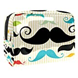 Bolsa de Maquillaje Bolsas de Aseo Organizador de cosméticos Bolsa con Cremallera para Mujer Barba Colorida