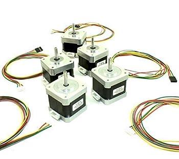 [REPRAPGURU] 5 Pcs NEMA 17 42 stepper motor with wires for 3D Printer or CNC