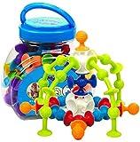 FANPING 48pcs de silicona bloques de construcción, bricolaje creativa bloquea los juguetes ensambladas Sucker Ventosa divertidos juguetes educativos del rompecabezas del juguete de construcción de reg