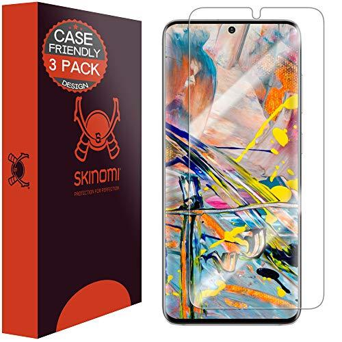 Skinomi Displayschutzfolie kompatibel mit Samsung Galaxy S20 (6,2 Zoll) (3er-Pack) (kompatibel mit Schutzhüllen), transparent, TechSkin TPU, blasenfreie HD-Folie.