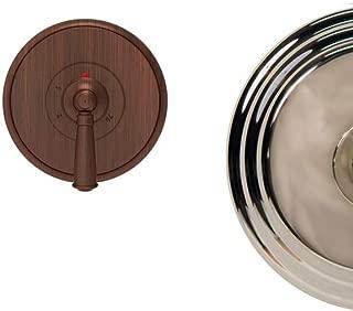 Newport Brass 3-2414TR Single Handle Thermostatic Valve Trim with Round Escutche, Polished Nickel