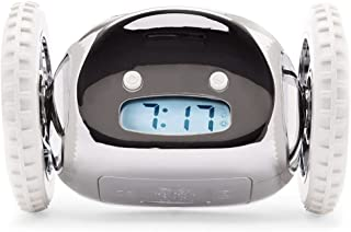 Clocky Alarm Clock on Wheels (Original)   Loudest for Heavy Sleeper (Adult or Kid Bed-Room Robot Clockie) Funny, Rolling, ...