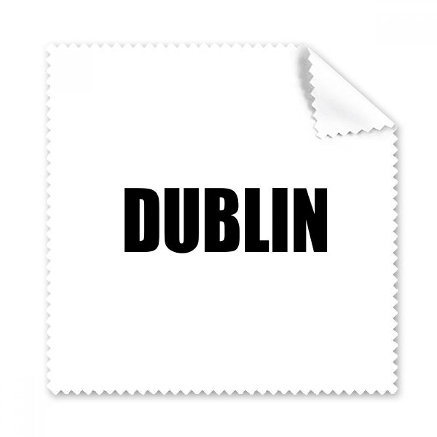 Dublin Ireland City Name Glasses Cloth Cleaning Cloth Phone Screen Cleaner 5pcs Gift