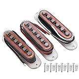 Pastilla de guitarra Pastilla de bobina simple transparente Accesorios de instrumentos musicales para piezas de guitarra eléctrica